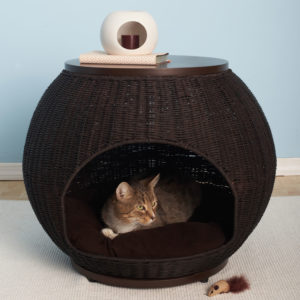 Igloo Wicker Rattan Cat Bed