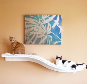 Lotus Branch Cat Shelf White
