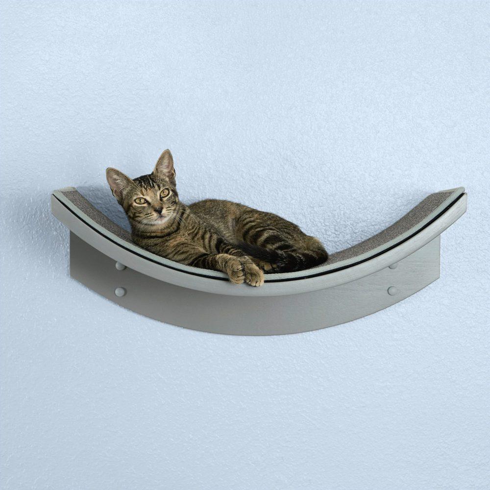 Lotus Leaf Cat Shelf Smoke