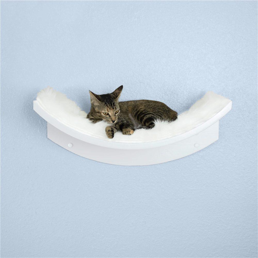 Lotus Leaf Cat Shelf White