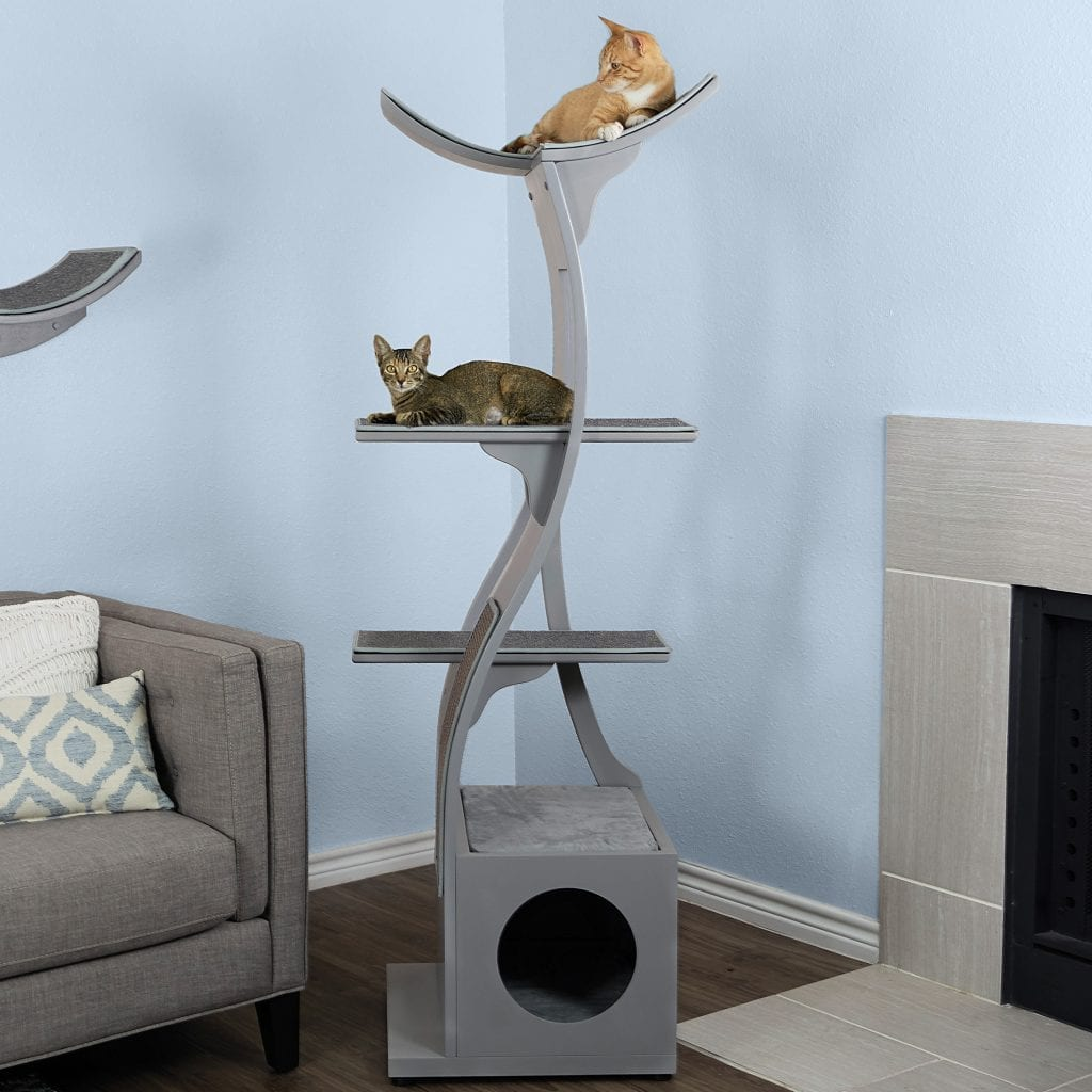 Lotus Cat Tower The Refined Feline