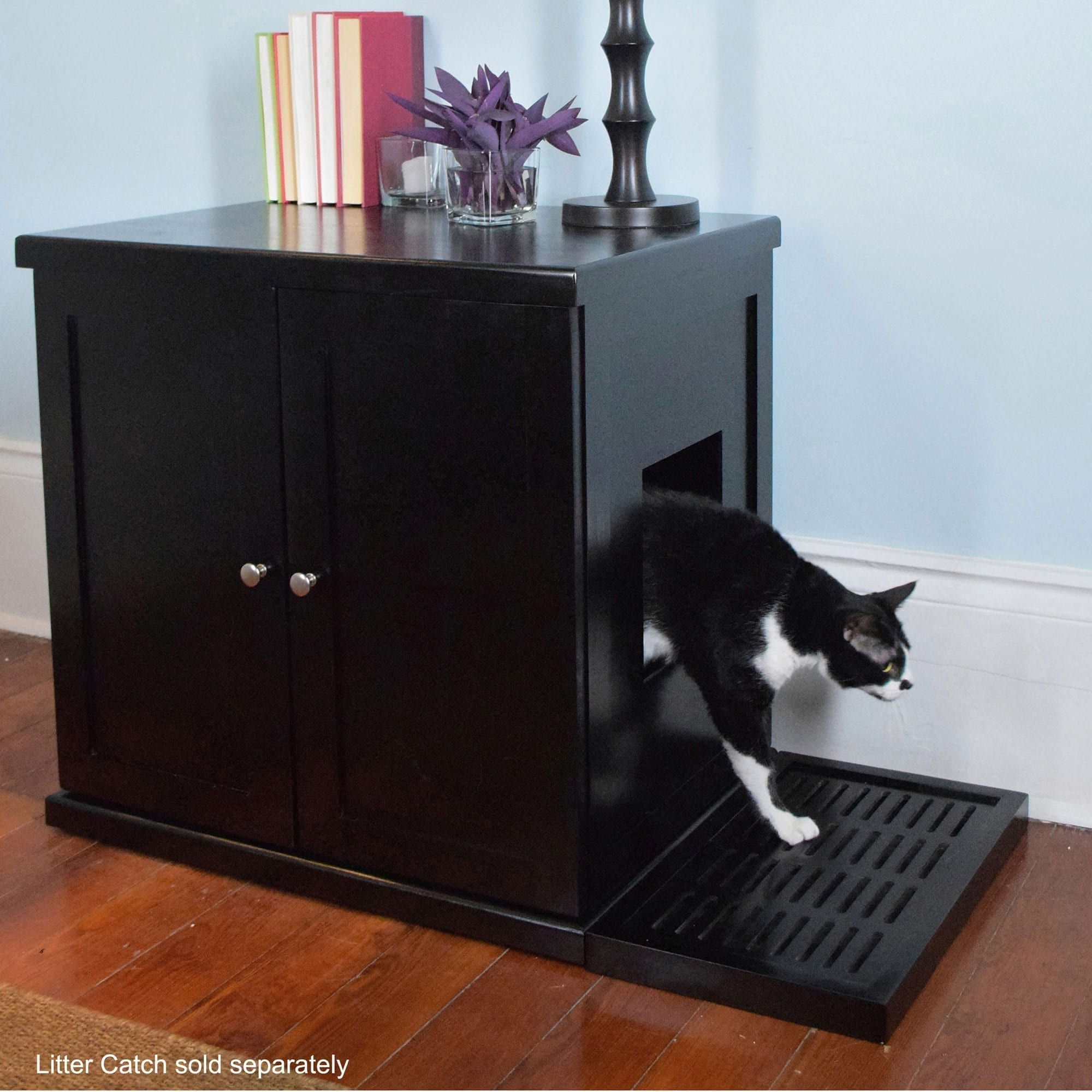 Refined Cat Litter Box Wood