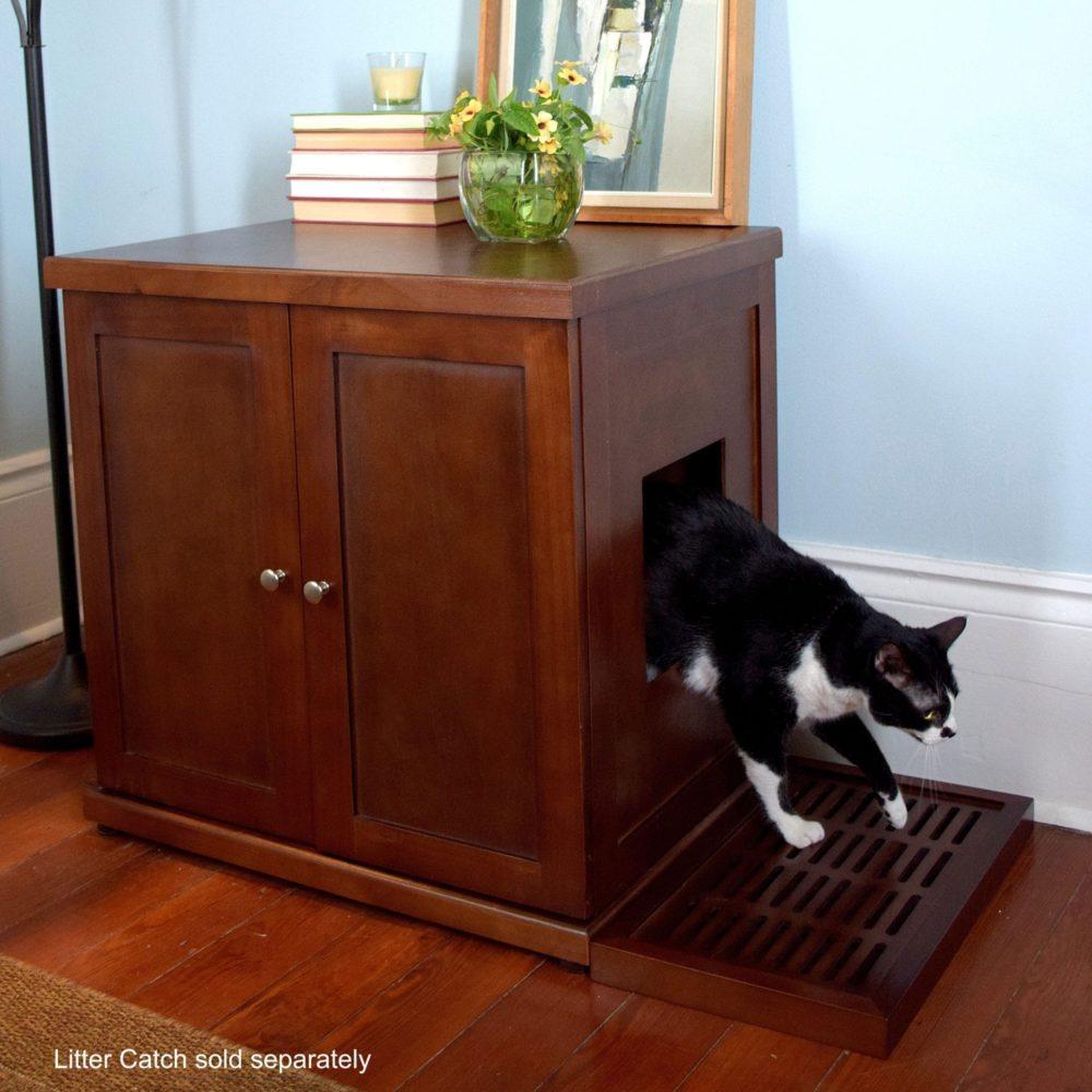 Refined Cat Litter Box Mahogany
