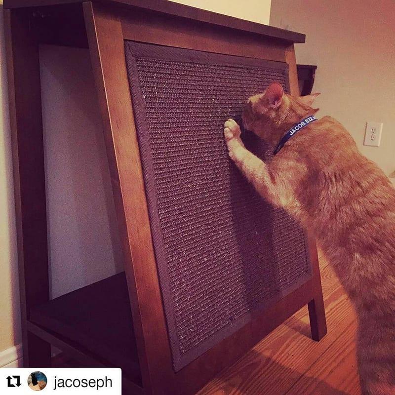 A-Frame Cat Bed Mahogany