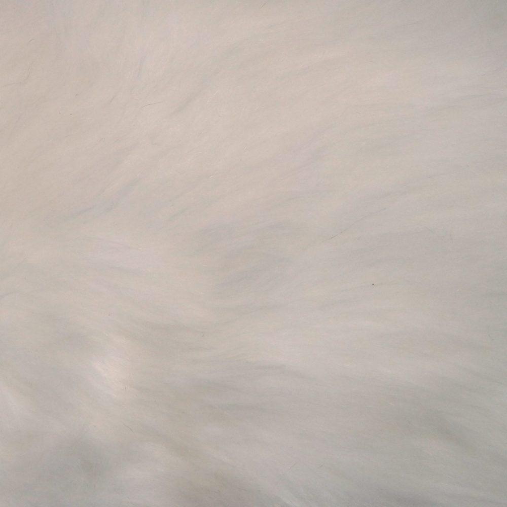 Lotus Branch Carpet/Faux Fur - White Fur