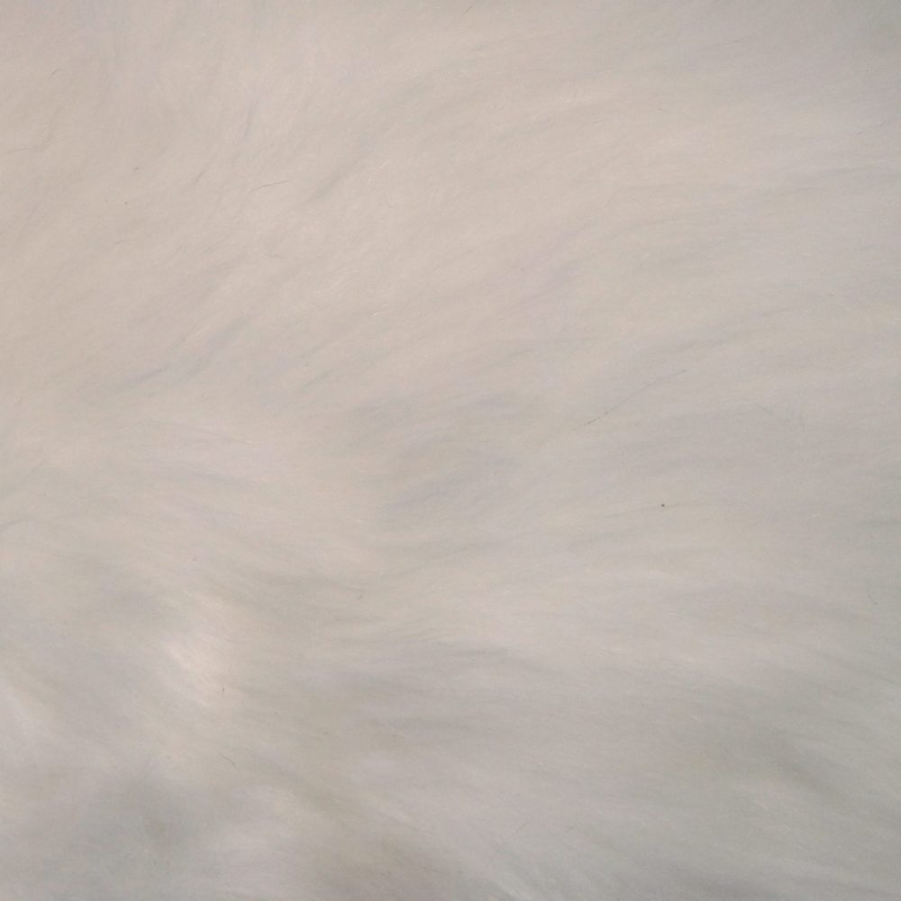 Lotus Leaf Carpet/Faux Fur - White Fur