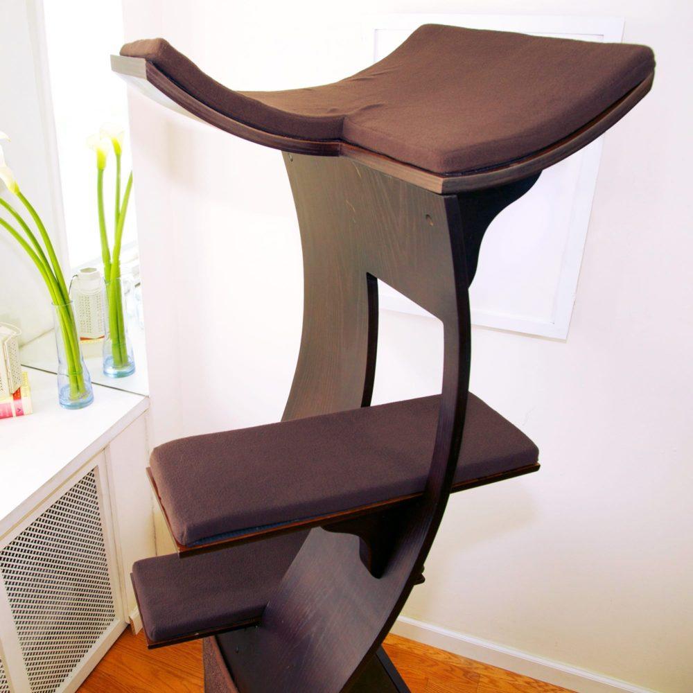 Lotus Cat Tower Platform Cushion Set - Brown