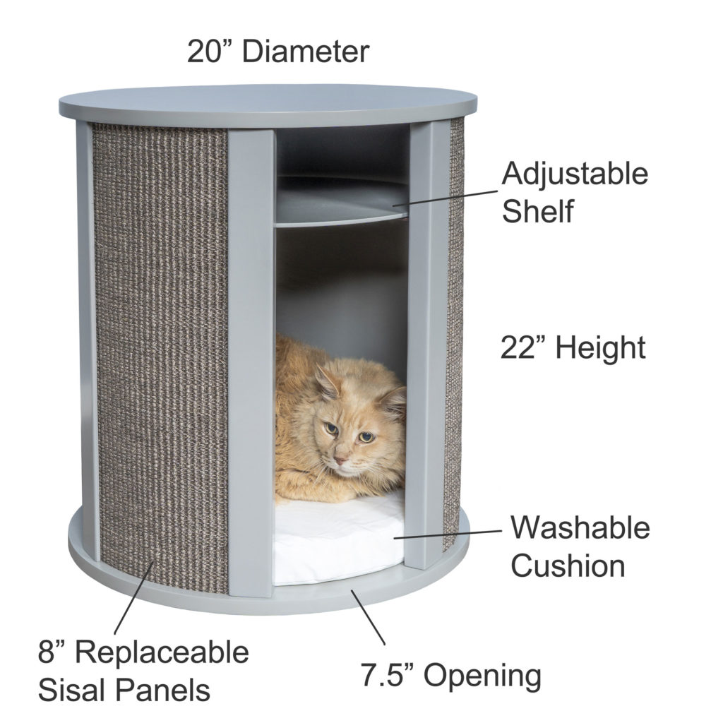 Purrrrfect-Night-Stand- Cat Bed Dimensions