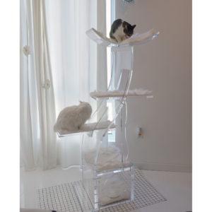 Modern Luxury Lotus cat tower Customer