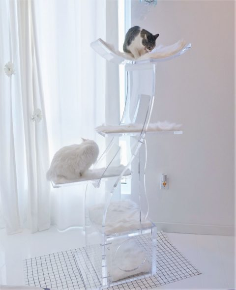 crystal clear lotus cat tower