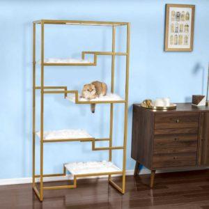 Metropolitan Gold Cat Condo Whitefur Sq New