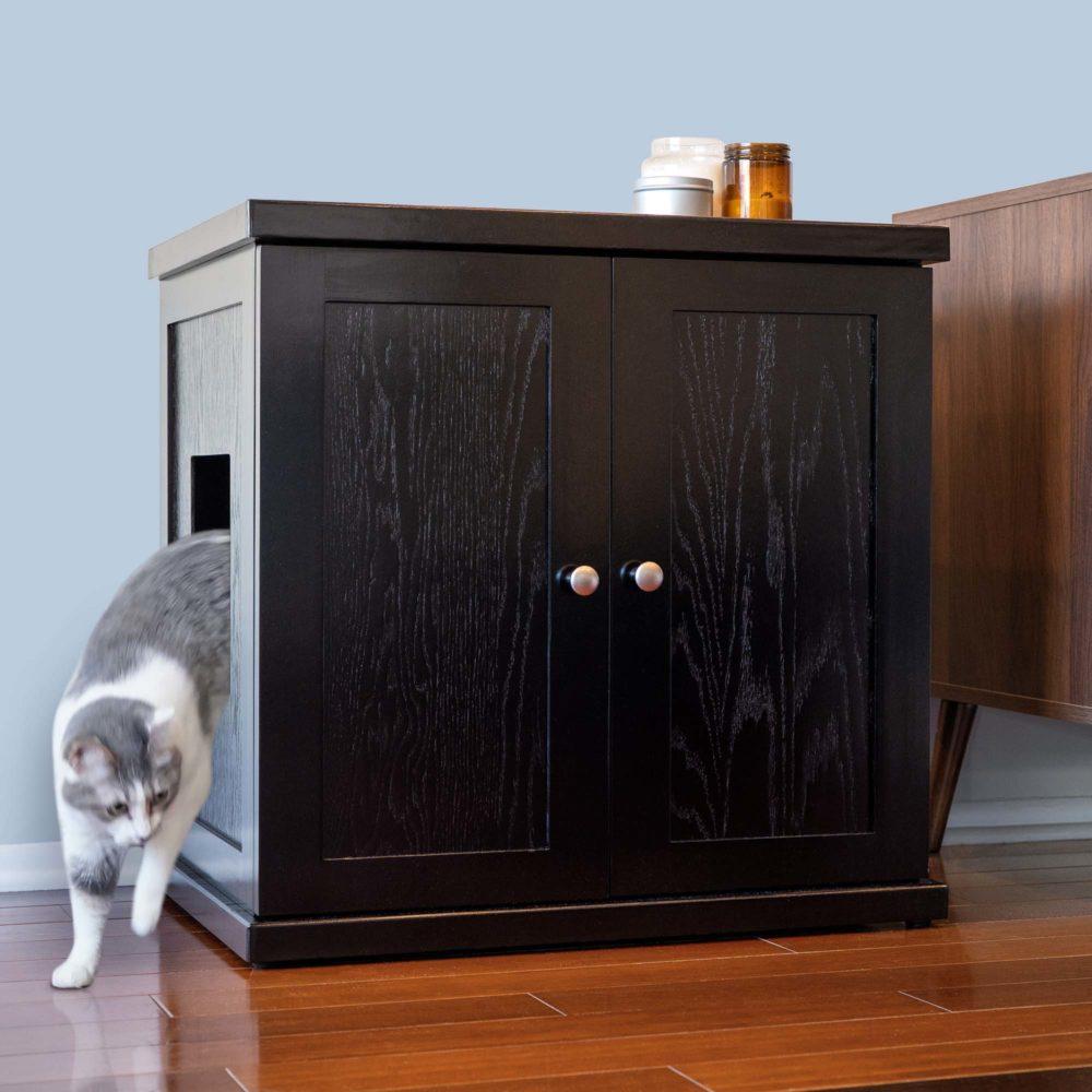 cat litter box espresso