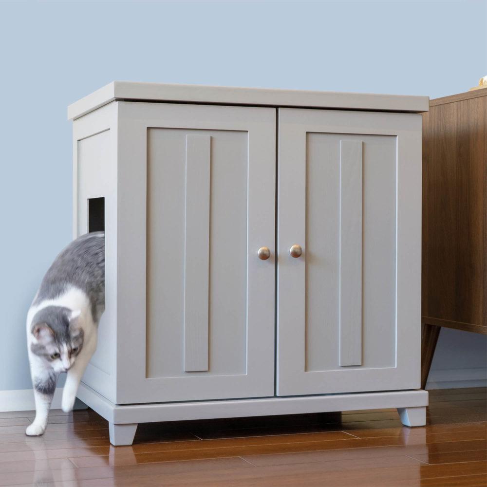 Cat Litter Box Furniture Cabinet Enclosure