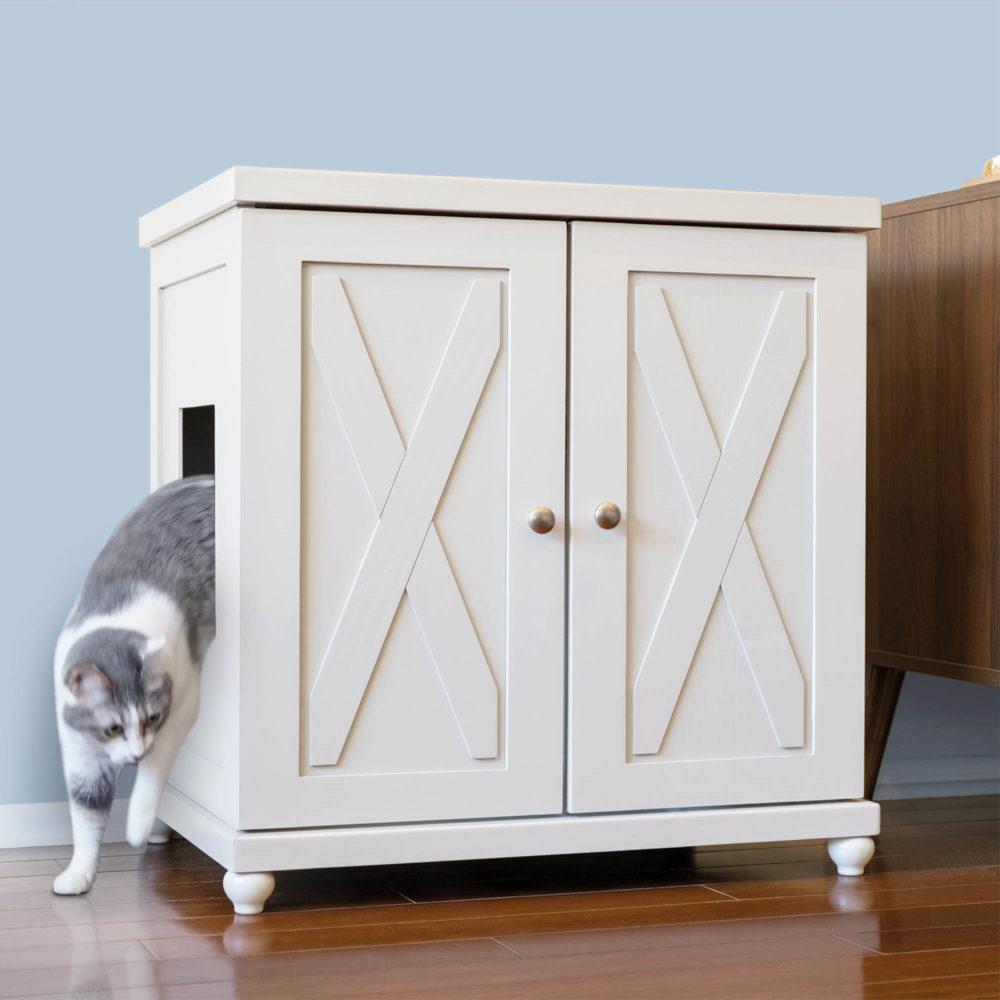 Refined Cat Litter Box Farmhouse Tulip