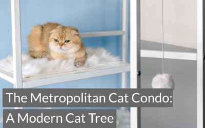 A Modern Cat Tree: The Metropolitan Cat Condo